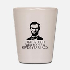 Funny Lincoln Shot Glass