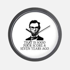 Unique Lincoln Wall Clock