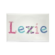 Lexie Princess Balloons Rectangle Magnet