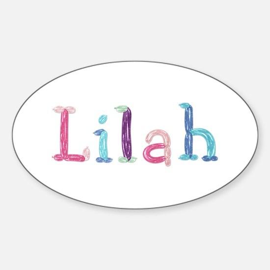 Lilah Princess Balloons Oval Decal