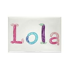 Lola Princess Balloons Rectangle Magnet