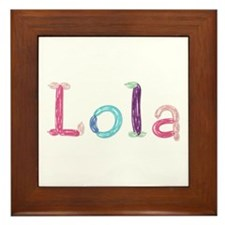 Lola Princess Balloons Framed Tile