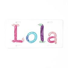 Lola Princess Balloons Aluminum License Plate