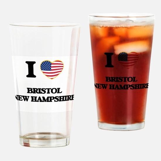 I love Bristol New Hampshire Drinking Glass