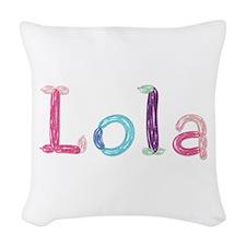 Lola Princess Balloons Woven Throw Pillow