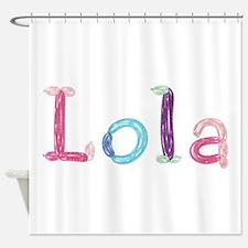 Lola Princess Balloons Shower Curtain