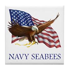 Navy Seabees Tile Coaster