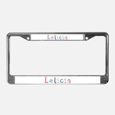 Leticia Princess Balloons License Plate Frame