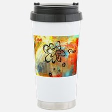 Love and Peace Stainless Steel Travel Mug
