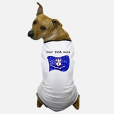 Connecticut State Flag (Distressed) Dog T-Shirt