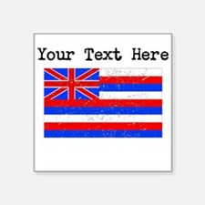 Hawaii State Flag (Distressed) Sticker