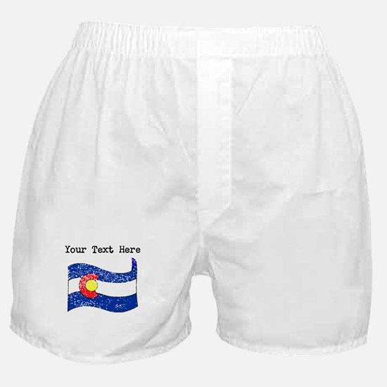 Colorado State Flag (Distressed) Boxer Shorts