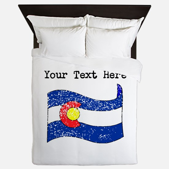 Colorado State Flag (Distressed) Queen Duvet