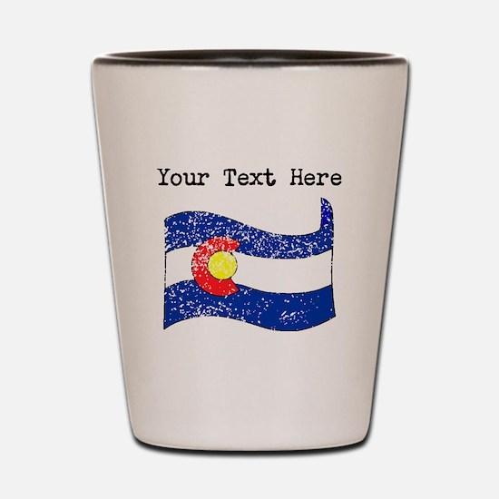 Colorado State Flag (Distressed) Shot Glass