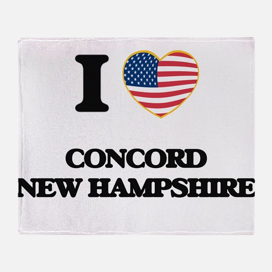 I love Concord New Hampshire Throw Blanket