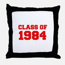 CLASS OF 1984-Fre red 300 Throw Pillow