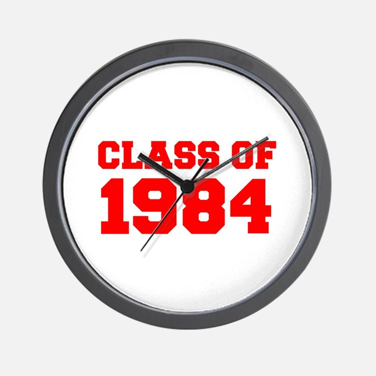 CLASS OF 1984-Fre red 300 Wall Clock