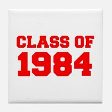 CLASS OF 1984-Fre red 300 Tile Coaster