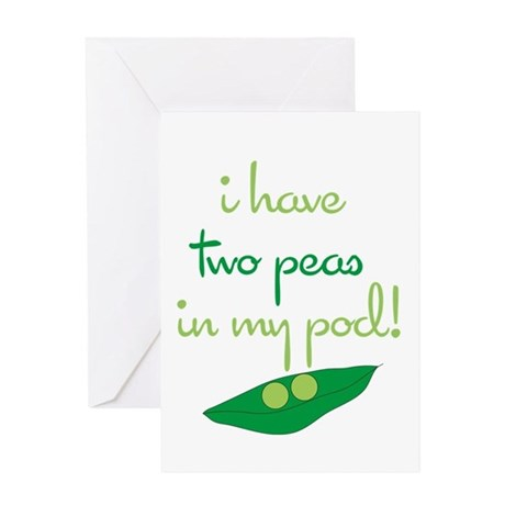 2 Peas in My Pod Greeting Card
