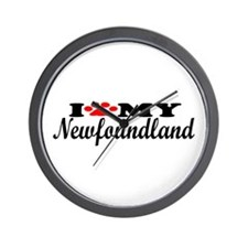Newfoundland - I Love My Wall Clock