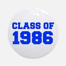 CLASS OF 1986-Fre blue 300 Ornament (Round)