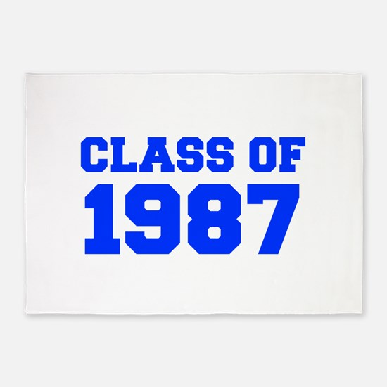 CLASS OF 1987-Fre blue 300 5'x7'Area Rug
