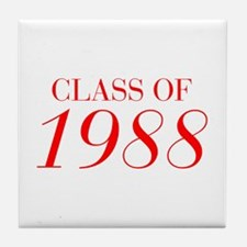 CLASS OF 1988-Bau red 501 Tile Coaster
