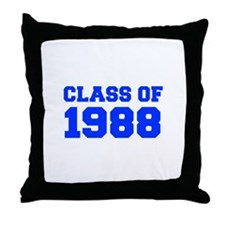 CLASS OF 1988-Fre blue 300 Throw Pillow