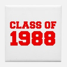 CLASS OF 1988-Fre red 300 Tile Coaster