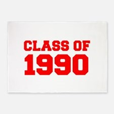 CLASS OF 1990-Fre red 300 5'x7'Area Rug