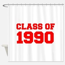 CLASS OF 1990-Fre red 300 Shower Curtain