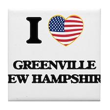 I love Greenville New Hampshire Tile Coaster