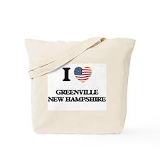 I love Greenville New Hampshire Tote Bag