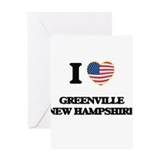 I love Greenville New Hampshire Greeting Cards