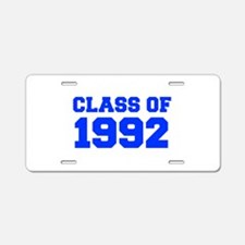 CLASS OF 1992-Fre blue 300 Aluminum License Plate