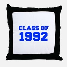 CLASS OF 1992-Fre blue 300 Throw Pillow