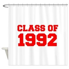 CLASS OF 1992-Fre red 300 Shower Curtain