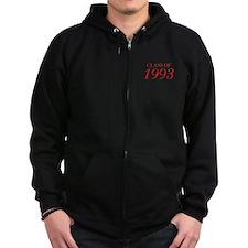 CLASS OF 1993-Bau red 501 Zip Hoodie