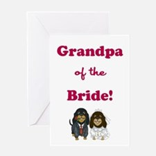 GRANDPA of the BRIDE Greeting Card