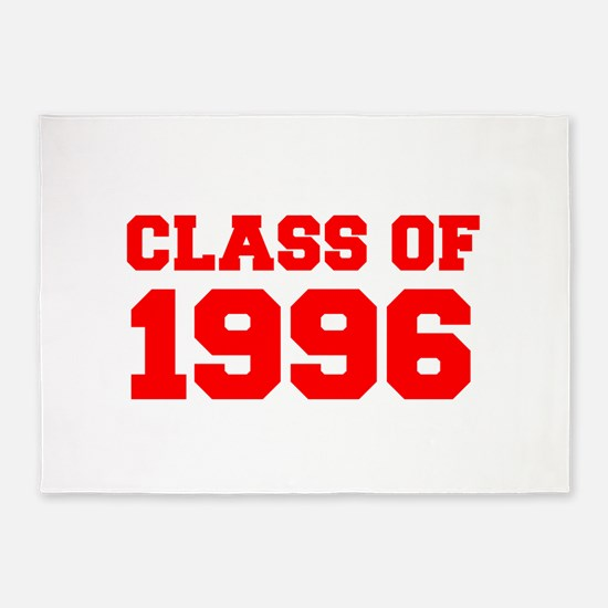 CLASS OF 1996-Fre red 300 5'x7'Area Rug