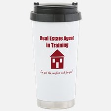 Real Estate Agent in Tr Stainless Steel Travel Mug