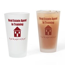 Real Estate Agent in Training Drinking Glass