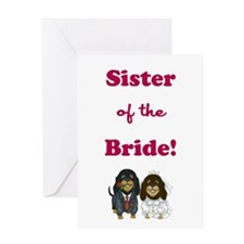 SISTER of the BRIDE Greeting Card