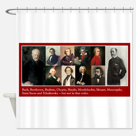 Cute Beethoven Shower Curtain