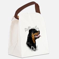 RottieDad.png Canvas Lunch Bag