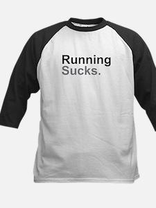 Running Sucks Black Baseball Jersey