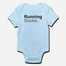 Running Sucks Black Body Suit