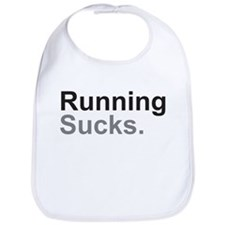 Running Sucks Black Bib