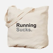 Running Sucks Black Tote Bag