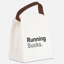 Running Sucks Black Canvas Lunch Bag